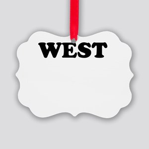 West Picture Ornament