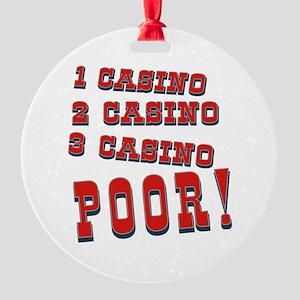 1 Casino Round Ornament