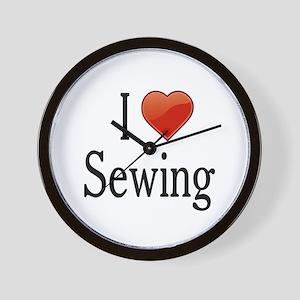 I Love Sewing Wall Clock