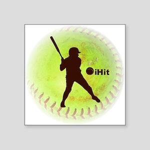 "iHit Fastpitch Softball Square Sticker 3"" x 3"