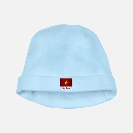 Grunge Vietnam Flag baby hat