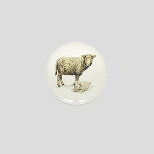 Sheep and Lamb Mini Button