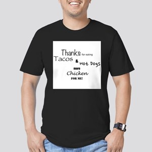 More Chicken For Me! Men's Fitted T-Shirt (dark)