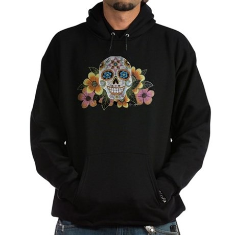 Flower Skull II Hoodie (dark)