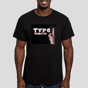 Type 1 diabetes Men's Fitted T-Shirt (dark)