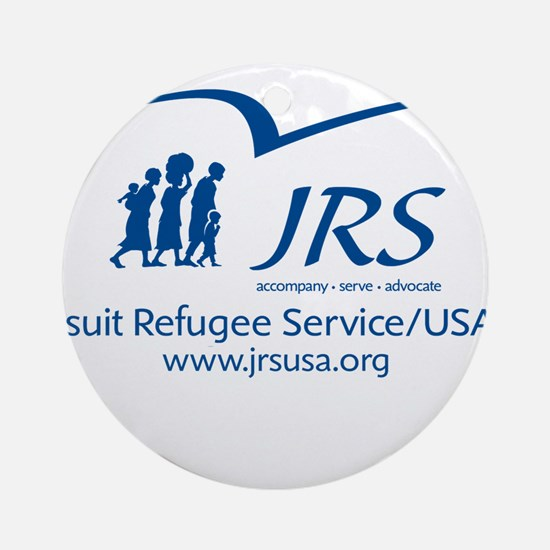the JRS/USA logo in blue Ornament (Round)