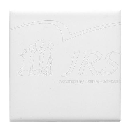 JRS/USA transparent logo Tile Coaster