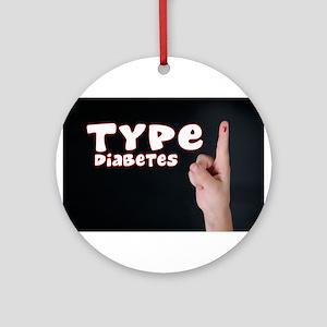 Type 1 Diabetes Ornament (Round)