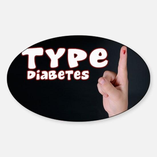Type 1 Diabetes Sticker (Oval)