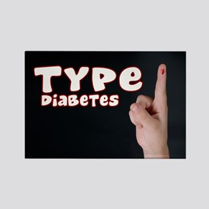 Type 1 Diabetes Rectangle Magnet