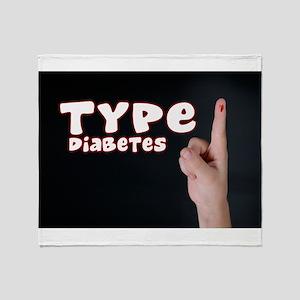 Type 1 Diabetes Throw Blanket