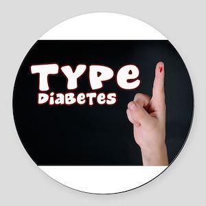 Type 1 Diabetes Round Car Magnet