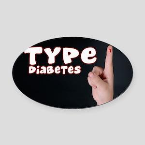 Type 1 Diabetes Oval Car Magnet