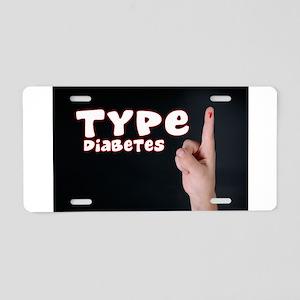 Type 1 Diabetes Aluminum License Plate