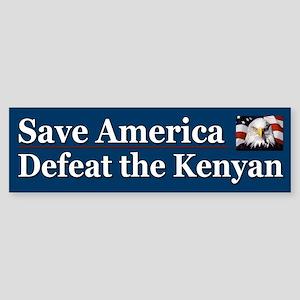 Save America Defeat the Kenyan Sticker (Bumper)