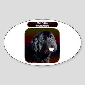 Newf 8 Oval Sticker