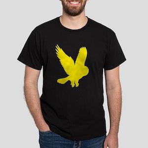 Yellow Owl in Flight Dark T-Shirt