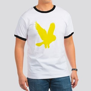 Yellow Owl in Flight Ringer T