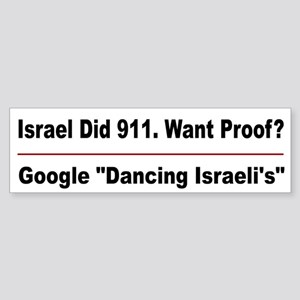 Isreal Did 911 Sticker (Bumper)