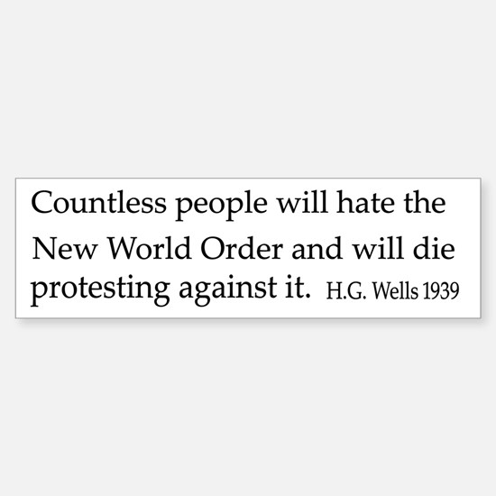 The New World Order Sticker (Bumper)