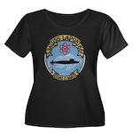 USS LAPO Women's Plus Size Scoop Neck Dark T-Shirt