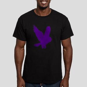 Purple Owl in Flight Men's Fitted T-Shirt (dark)