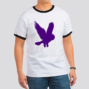 Purple Owl in Flight Ringer T