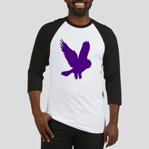 Purple Owl in Flight Baseball Jersey