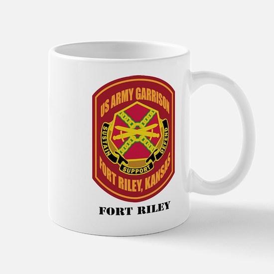 Fort Riley with Text Mug