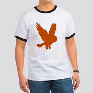 Orange Owl in Flight Ringer T