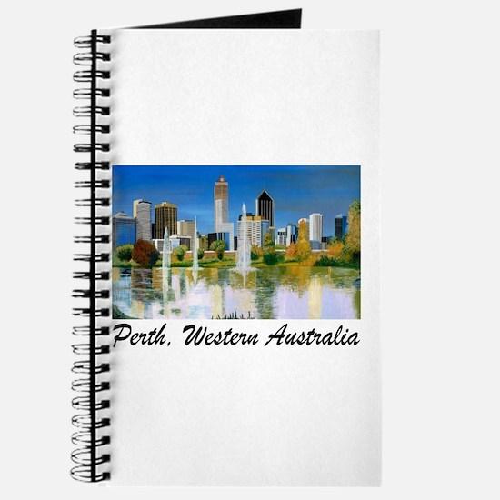 Perth Skyline Painting Journal