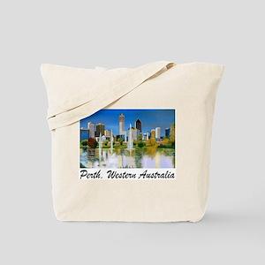 Perth Skyline Painting Tote Bag