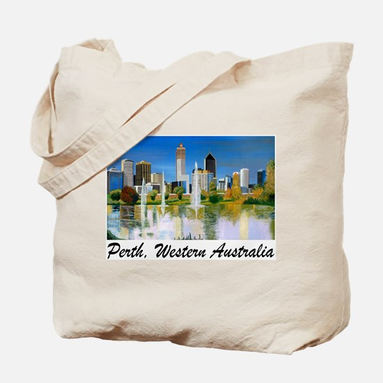 Perth Skyline Painting Tote Bag
