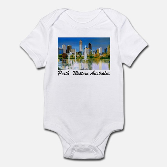 Perth Skyline Painting Infant Creeper