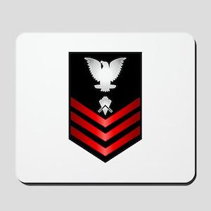 Navy Builder First Class Mousepad