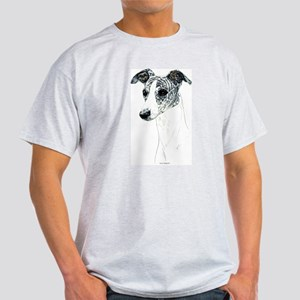 Brindle Whippet Ash Grey T-Shirt