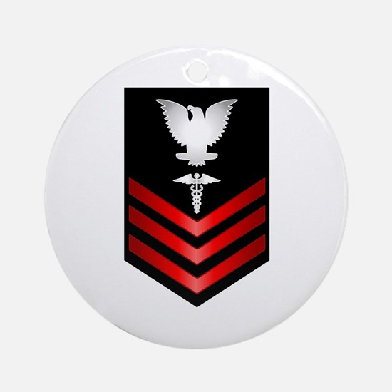 Navy Corpsman First Class Ornament (Round)