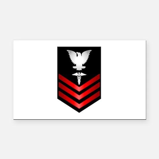 Navy Corpsman First Class Rectangle Car Magnet