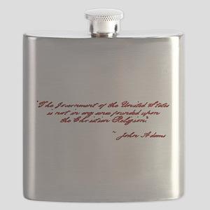 John Adams Quote Flask