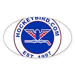 hockeybird_vintage.jpg Sticker (Oval)