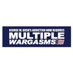 MULTIPLE WARGASMS Bumper Sticker