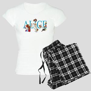 ALICE & FRIENDS IN WONDERLA Women's Light Pajamas