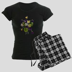 violets_Embroidery036 copy Women's Dark Pajama