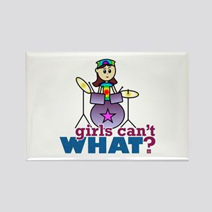 Drummer Girl Rectangle Magnet