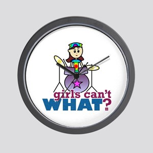 Drummer Girl Wall Clock