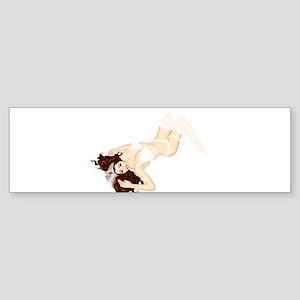 Trinity - bride pinup girl Sticker (Bumper)