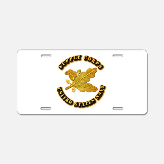 Navy - Supply Corps Aluminum License Plate