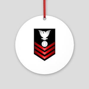 Navy Electrician's Mate First Class Ornament (Roun