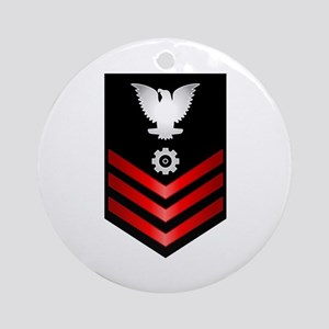 Navy Engineman First Class Ornament (Round)