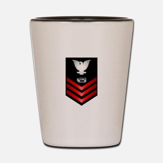 Navy Equipment Operator First Class Shot Glass